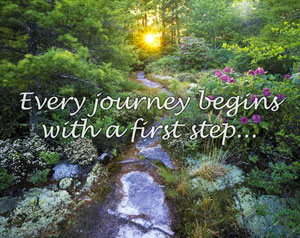 Every journey begins with a first step...